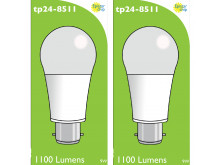 8511 LED 9W Frosted GLS BC/B22 Cap *2 Pack Bundle*