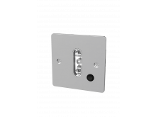 9071 Ridgewood Single Standard Wall Face Plate With Switch Chrome