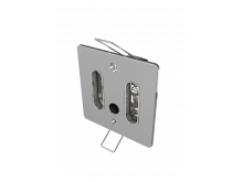 9072 Thornton Double Standard Wall Face Plate With Switch Chrome