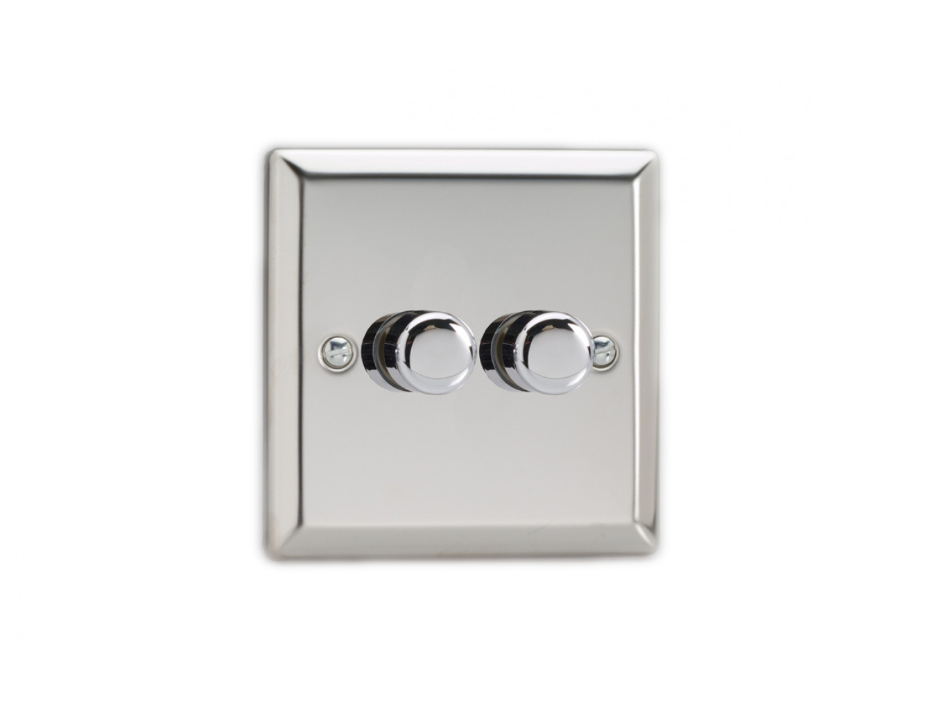 Varilight Double Chrome dimmer switch 2 way - LED Dimmable - Light ...