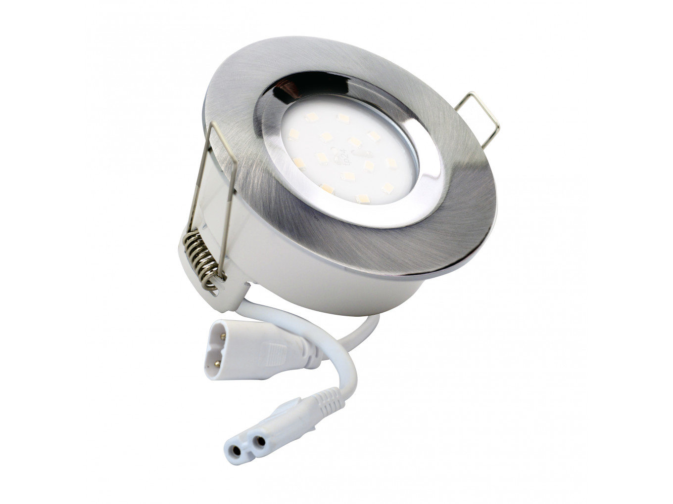 5743 G40 Ip65 Downlight Satin Silver Inc Dimmable Lamp Downlights Wiring Circuit