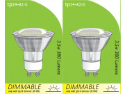 8210 GU10/L1 LED Spot Dimmable *2 Pack Bundle*