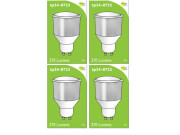 8722 LED 3.5W Opaque Spot L1/GU10 Cap (2886, 2884 & 2318 Replacement) *4 Pack Bundle*