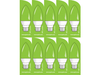 3756 LED 4W Clear Candle BC/B22 Cap *10 Pack Bundle*