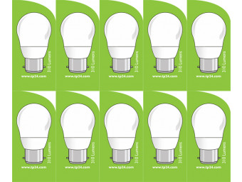 3761 LED 4W Frosted Golfball BC/B22 Cap *10 Pack Bundle*