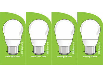 3761 LED 4W Frosted Golfball BC/B22 Cap *4 Pack Bundle*