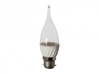 3776 LED 4W Clear Candle Tip BC/B22 Cap