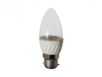 3791 LED 4W Clear Candle BC/B22 Cap