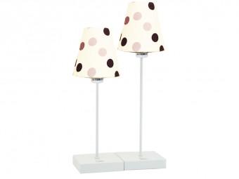 Popova Double Table Lamp in White