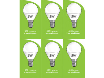 8052 5w E14/SES LED Frosted Golf Ball *6 pack Bundle*