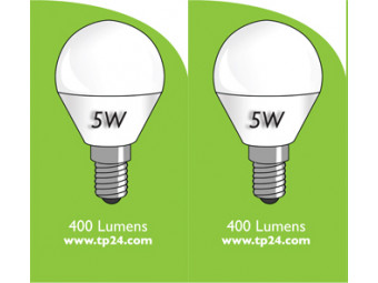 8053 5w E27/ES LED Frosted Golf Ball *2 Pack Bundle*