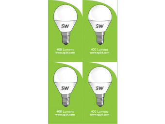 8053 5w E27/ES LED Frosted Golf Ball *4 Pack Bundle*