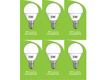 8053 5w E27/ES LED Frosted Golf Ball *6 Pack Bundle*