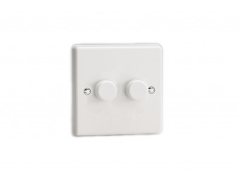 Varilight Double white dimmer switch 2 way
