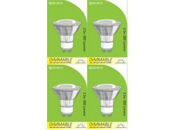 8210 GU10/L1 LED Spot Dimmable *4 Pack Bundle*