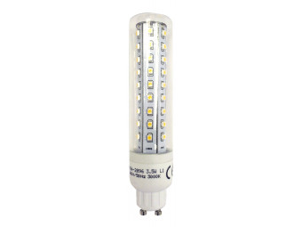 8600 L1/GU10 Tube Lamp LED 3.5w Clear Glass (2896 and 2317 replacement)