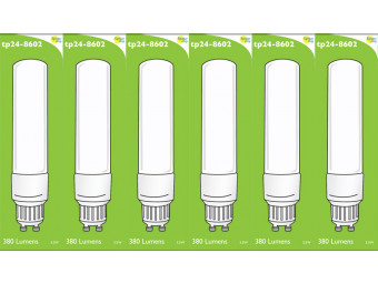 8602 Tube Lamp LED L1/GU10 3.5w Frosted (2898 & 2317 Replacement) *6 Pack Bundle*