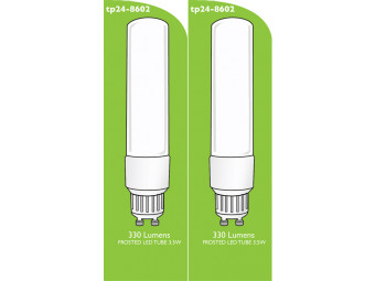 8602 Tube Lamp LED L1/GU10 3.5w Frosted (2898 & 2317 Replacement)  *2 Pack Bundle*