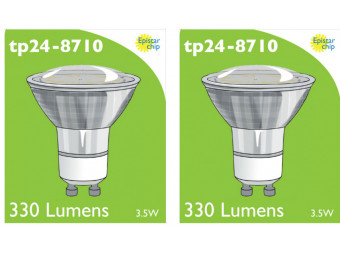8710 LED 3.5W Clear Spot L1/GU10 Cap (2882 & 2880 Replacement) *2 Pack Bundle*