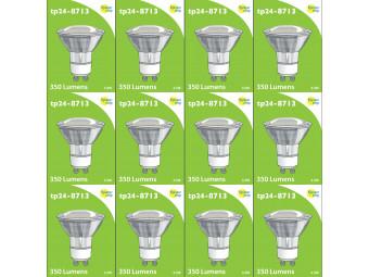 8713 LED 3.5W Clear Spot L1/GU10 Cap (2882 & 2880 Replacement) 4000K *12 Pack Bundle*