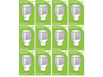8722 LED 3.5W Opaque Spot L1/GU10 Cap (2886, 2884 & 2318 Replacement) *12 Pack Bundle*