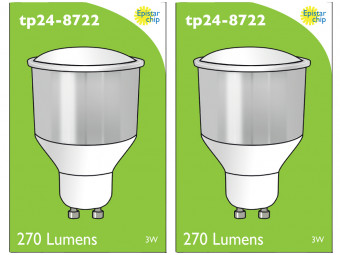 8722 LED 3.5W Opaque Spot L1/GU10 Cap (2886, 2884 & 2318 Replacement) *2 Pack Bundle*