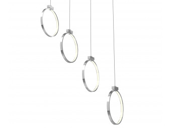 Hudson 4 Bar Suspension Pendant With Small Circle Arms