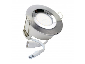 5734 G40 IP65 Downlight Satin Silver Inc Frosted Lamps