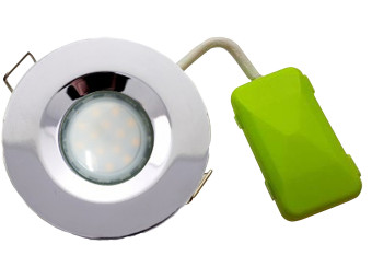 5771 G40 IP65 Downlight Earthed Model Chrome Inc 4000K Dimmable Daylight Lamp