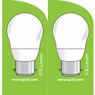 3761 LED 4W Frosted Golfball BC/B22 Cap *2 Pack Bundle*