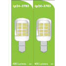 3783 LED 3W Clear Pygmy SBC/B15 Cap *2 Pack Bundle*