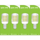 3783 LED 3W Clear Pygmy SBC/B15 Cap *4 Pack Bundle*
