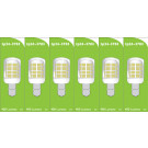 3783 LED 3W Clear Pygmy SBC/B15 Cap *6 Pack Bundle*