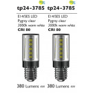 3785 LED 3W Clear Pygmy SES/E14 Cap *2 Pack Bundle*