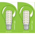 3821 LED 5W Clear GLS BC/B22 Cap *2 Pack Bundle*