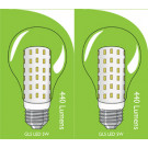 3822 LED 5W Clear GLS ES/E27 Cap *2 Pack Bundle*