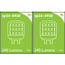 4920 LED 3W Clear Pygmy L1-X Cap *2 Pack Bundle*
