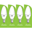 8030 5w B15/SBC LED Frosted Candle *4 Pack Bundle*
