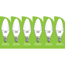 8032 5w E14/SES LED Frosted Candle *6 Pack Bundle*