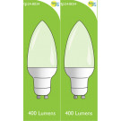 8034 4w L1/ GU10 Frosted LED Candle (4900, 2860 & 2310 Replacement) *2 Pack Bundle*