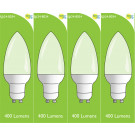 8034 4w L1/ GU10 Frosted LED Candle (4900, 2860 & 2310 Replacement) *4 Pack Bundle*