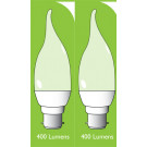 8041 5w BC/B22 Frosted LED Candle Tip *2 Pack Bundle*