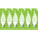 8041 5w BC/B22 Frosted LED Candle Tip *6 Pack Bundle*