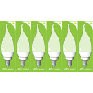 8042 5w E14/SES Frosted LED Candle Tip *6 Pack Bundle*