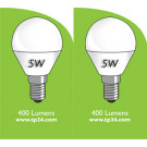 8052 5w E14/SES LED Frosted Golf Ball *2 Pack Bundle*
