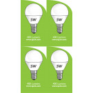 8052 5w E14/SES LED Frosted Golf Ball *4 pack Bundle*