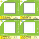 8142 Frosted Square G40 SMD LED Dimmable *4 Pack Bundle*
