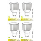 8212 GU10/L1 LED Long neck Spot Dimmable *4 Pack Bundle*