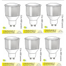 8212 GU10/L1 LED Long neck Spot Dimmable *6 Pack Bundle*