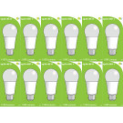 8511 LED 9W Frosted GLS BC/B22 Cap *12 Pack Bundle*